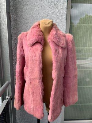 Veste de fourrure rose-rose clair