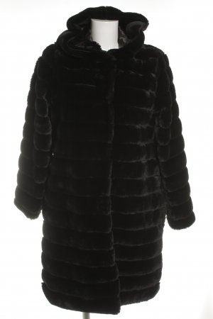 Giacca di pelliccia nero stile stravagante