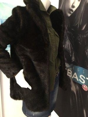 Vicolo Fur Jacket dark brown