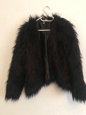 H&M Giacca di pelliccia nero