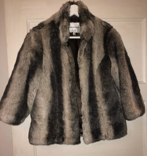 Paraphrase Fake Fur Coat multicolored