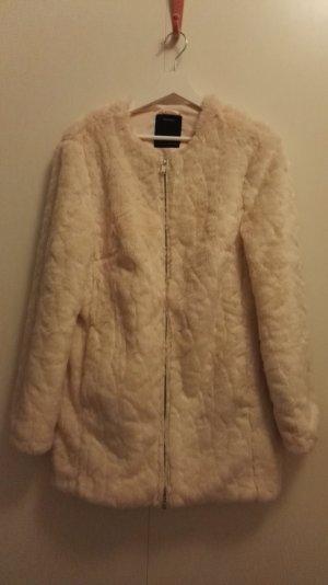 Felljacke weiß / Fake Fur