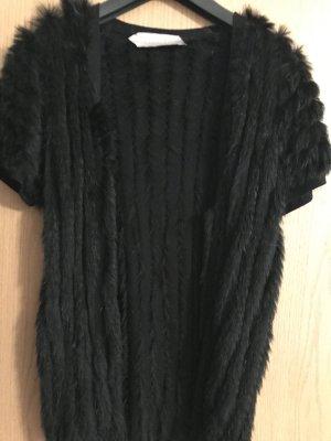 Dorothee Schumacher Gilet en fourrure noir pelage