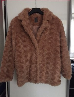 Primark Fake Fur Coat rose-gold-coloured