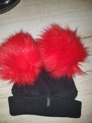 Diesel Fur Hat black-brick red
