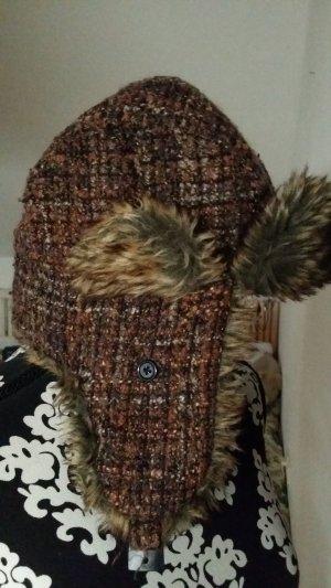 Fur Hat multicolored mixture fibre