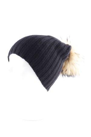 Chapeau en fourrure multicolore style décontracté