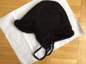 Sombrero de piel negro Piel