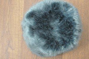 H&M Chapeau en fourrure bleu pétrole