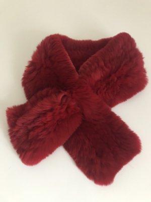 Écharpe ronde rouge carmin