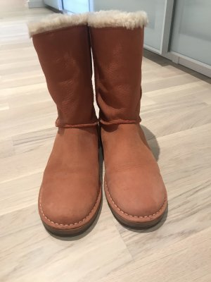 Fur Boots russet-brown leather