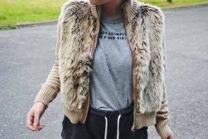 Fur Jacket beige