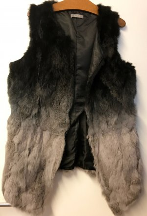 Aust Fur vest black-grey fur