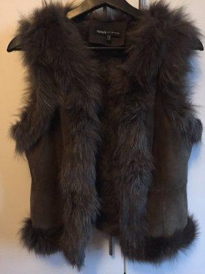 Arma Collection Gilet en fourrure gris