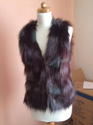 Vila Fur vest multicolored polyester