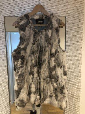 Oakwood Giacca di pelliccia bianco-grigio chiaro