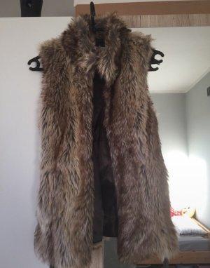 Only Fur vest grey brown