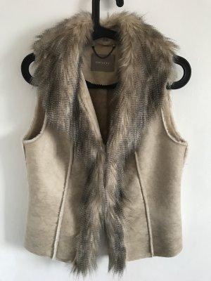 Orsay Smanicato di pelliccia beige