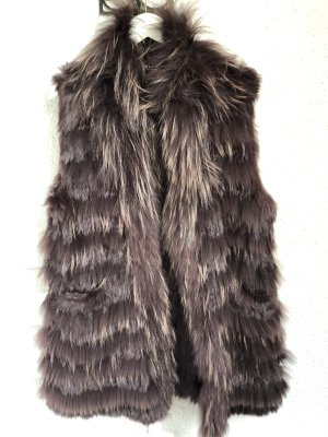 Oakwood Fur vest black brown-brown red fur