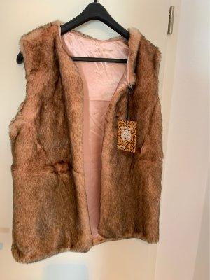 Wildcat Fur vest rose-gold-coloured