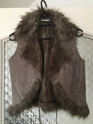 Gina Fur vest dark brown