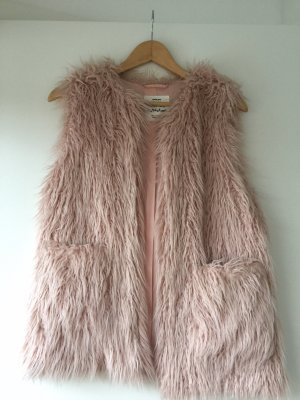Zara Chaleco de piel rosa