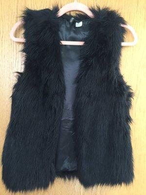 H&M Divided Smanicato di pelliccia nero