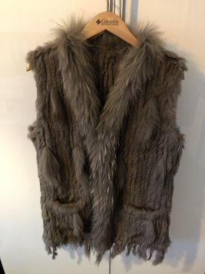 Fur vest multicolored