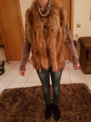 Schiffhauer Smanicato di pelliccia marrone chiaro