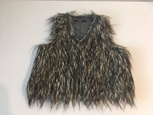 BlendShe Fake Fur Vest multicolored