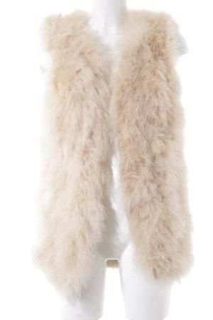 Smanicato di pelliccia crema-beige stile casual