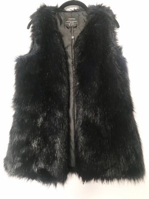 Street One Fur vest black