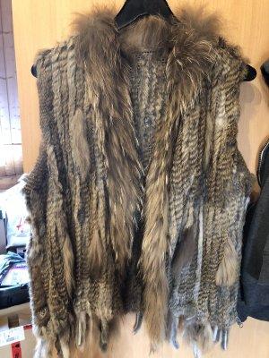 Smanicato di pelliccia marrone chiaro-bronzo