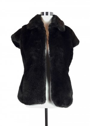 Fur vest multicolored fake fur