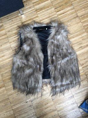 Fake Fur Vest grey brown