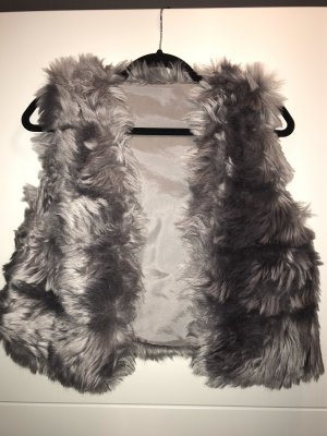 Fur vest multicolored polyester