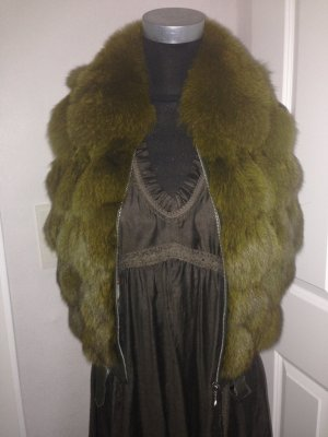 Fur vest multicolored pelt