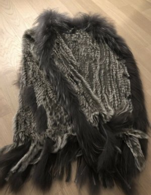 David Moore Fur vest multicolored