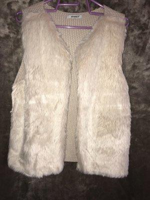Only Fur vest cream