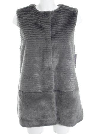Smanicato di pelliccia grigio stile casual