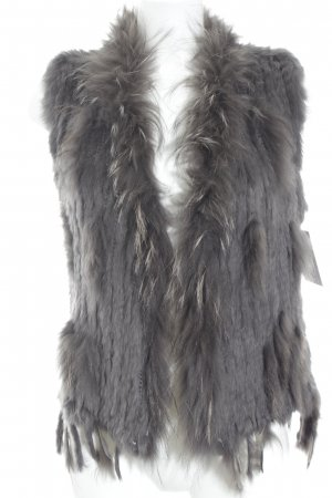 Fellweste graubraun Animal-Look