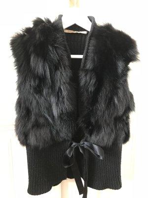 Anna Rita N Fur vest black fur