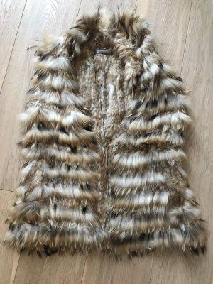 Hallhuber Donna Smanicato di pelliccia beige-crema