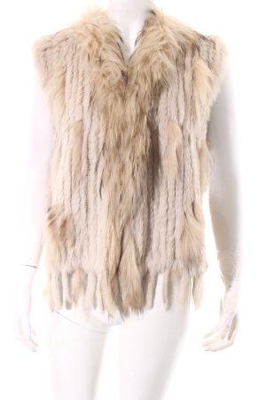 Smanicato di pelliccia beige chiaro-beige stile stravagante