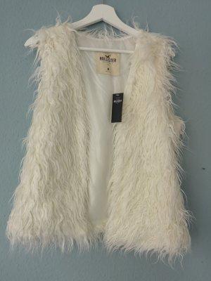 Hollister Smanicato di pelliccia bianco