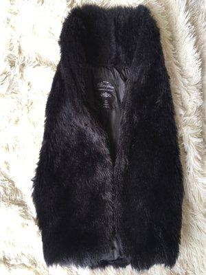 Atmosphere Vest van imitatiebont zwart