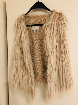 Fur vest light pink-white