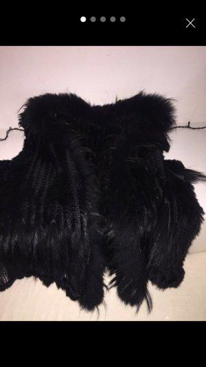Fellweste in schwarz