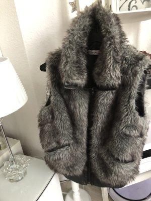 Orsay Smanicato di pelliccia grigio-grigio chiaro