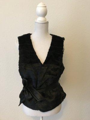 Vero Moda Vest van imitatiebont zwart